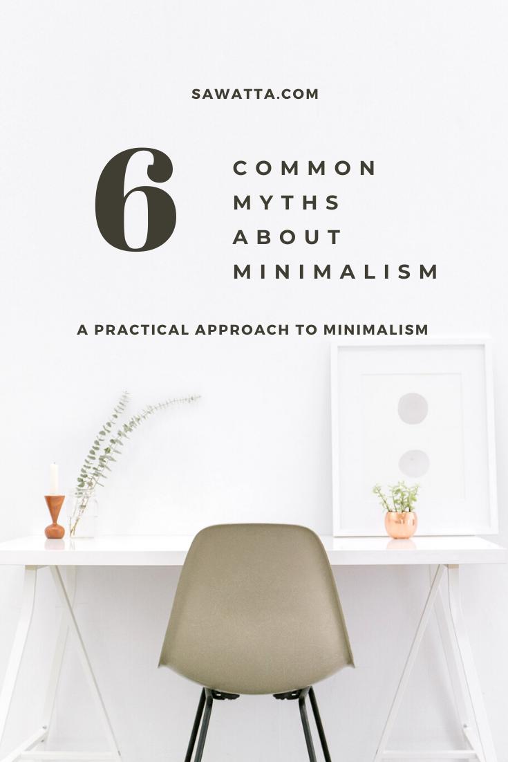 Common Myths About Minimalism Pinterest Pin