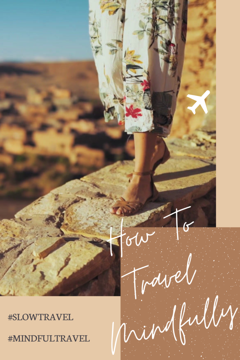 how to travel mindfully - pinterest pin