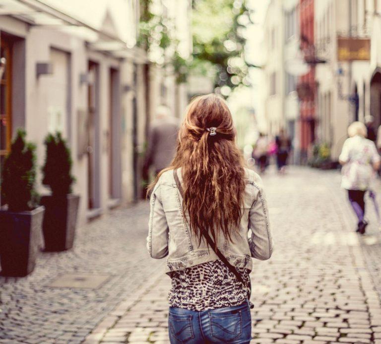 slow travel - walk around the city