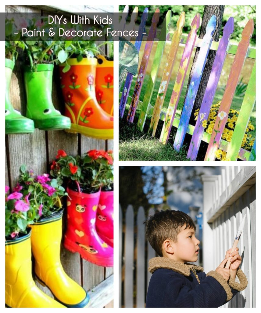 ideas to keep kids buys - paint and decorate fences