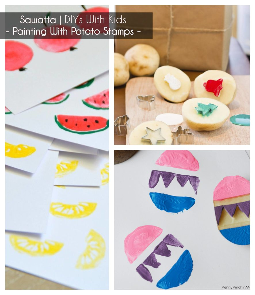 ideas to keep kids busy - making potato stamps