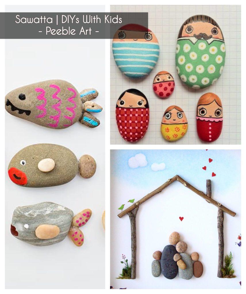 ideasto keep kids busy - create peeble art