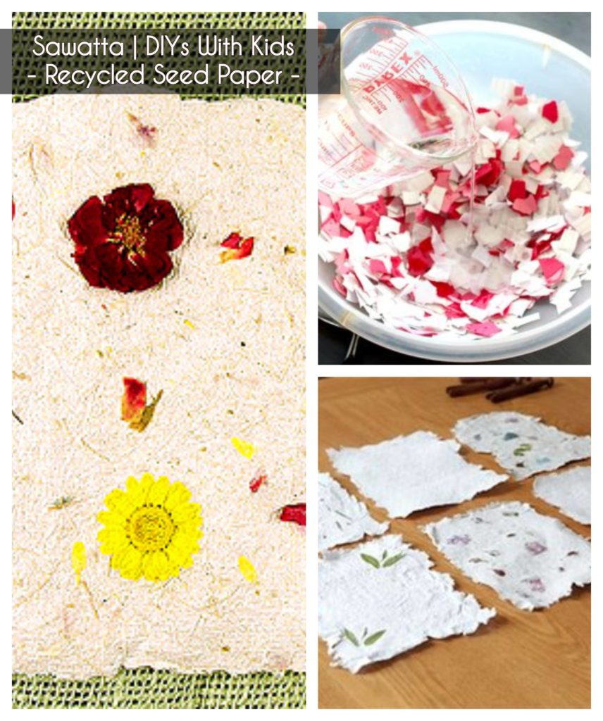 ideas to keep kids busy - making recycled seed paper