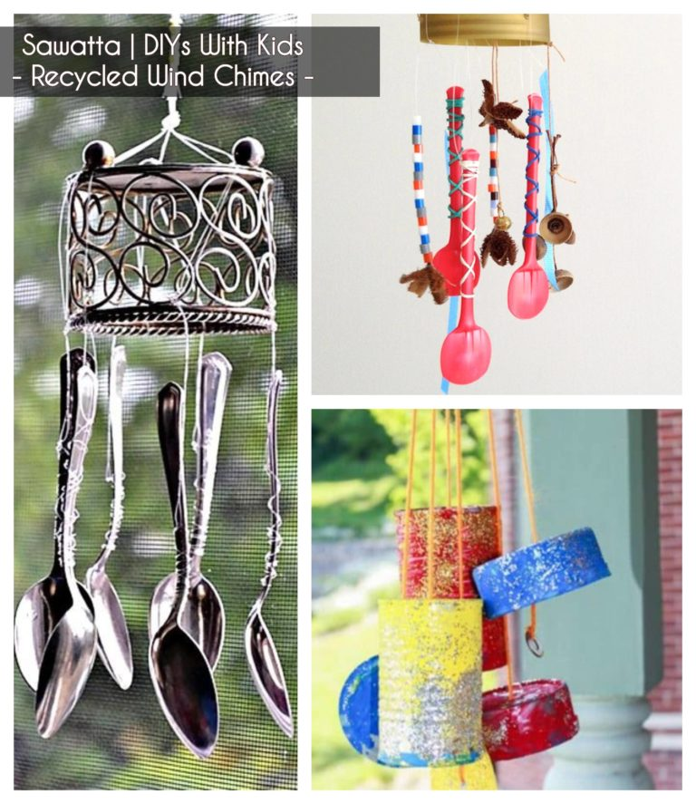 ideas to keep kids busy - making wind chimes